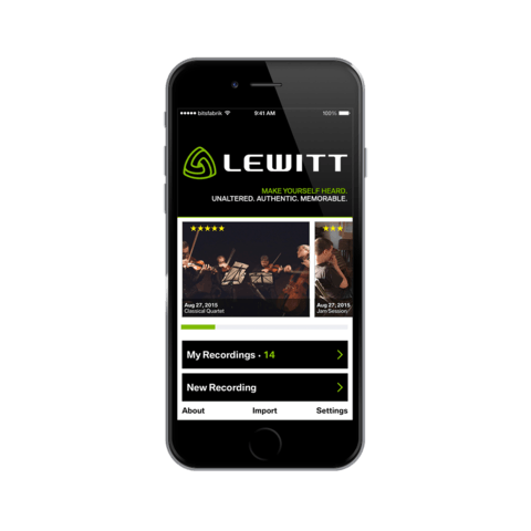 Lewitt Recording App Screen