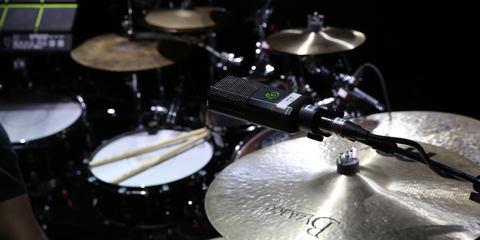 This image shows the DTP Beat Kit Pro 7 on a drum kit