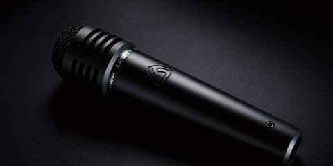 This image shows the MTP 440 DM live microphone